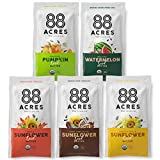 88 Acres Organic Sunflower Seed Butter | Gluten Free, Nut-Free Seed Spread | Vegan & Non GMO (14 Pack Variety)