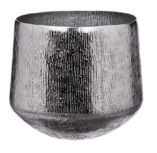 AD TREND-STAR Caspo Vaso in Metallo Decorazione Moderno Cachepot 28 x 25 cm