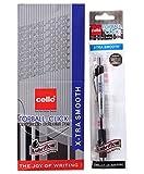 10 Pens Cello Topball Click Retractable Xtra Smooth Fine Write Ball Pen Black