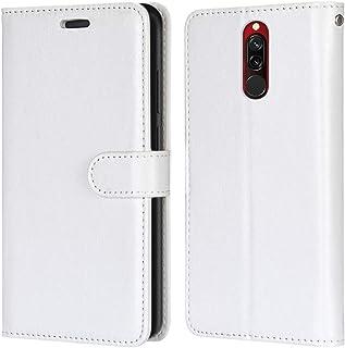 Laybomo Carcasa para Xiaomi Redmi 8 Tapa Funda Cuero Estilo-Sencillo Monederos Billetera Bolsa Magnética Protector Silicon...