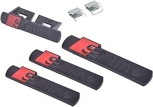 4pcs S Line Sline Car Blade Side Fender Sticker +Grille Badge+trunk Emblem Replacement for Audi A4 A6 A8 Q5 Q7 Tt Logo (Black)