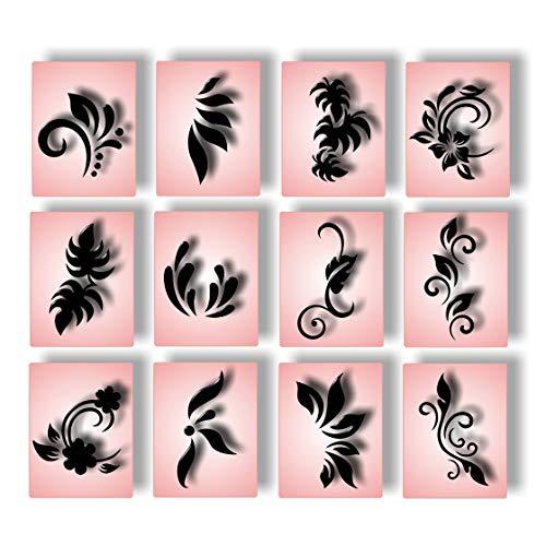 Airbrush Schablonen Nailart Fingernagel Schablone selbstklebend Nail Art Naildesign für Nägel