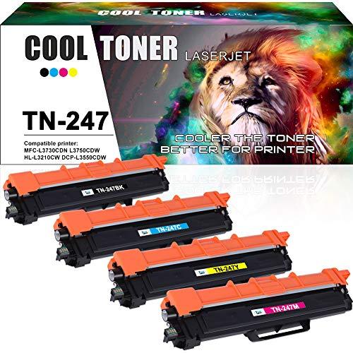 Cool Toner Compatibele Toner Cartridge Vervangen voor TN-247 TN247 TN-243 TN243 Toner voor Brother DCP-L3550CDW MFC-L3750CDW MFC-L3770CDW HL-L3210CW HL-L3230CDW HL-L3270CDW MFC-L3710CW MFC-L3730CDN