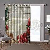 YUAZHOQI cortinas correderas de cristal para puerta, rústica, recetas de utensilios de cocina, 52 x 84 pulgadas de ancho x 84 pulgadas de largo persiana vertical para sala de estar (1 panel)