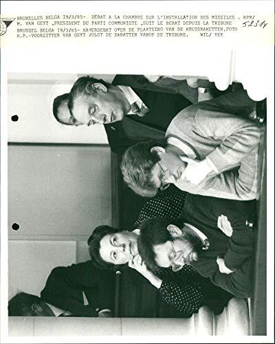 Jean Pierre Coopman y su gerente Karel de Jager - Vintage Press Photo