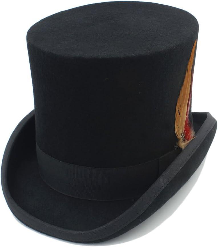 TWEITIE Men's Dedication Top shipfree Hat Wool with Fedora Steampunk Fedoras Fea