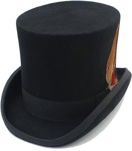 Garantía 100% de ajuste Easy Go Go Go Shopping Sombrero Enojado 100% de Las mujeres del Sombrero de Copa de Las mujeres Sombrero Enojado de Steampunk de Fedora con la Pluma  disfrutando de sus compras