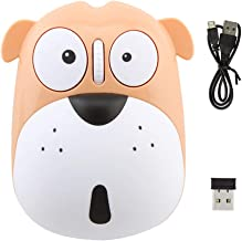 3C Light Wireless Mouse Cute Animal Dog 2.4GHz Wireless Mouse Mini Rechargeable Optical Mice Cartoon Computer Mouse 3 Butt...