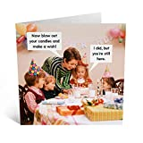 Central 23 - Funny Birthday Card'Make A Wish' Rude'n'Retro - Him Her Mom Dad Husband Wife Brother Sister Old Cards Joke Humour Witty Pun Banter