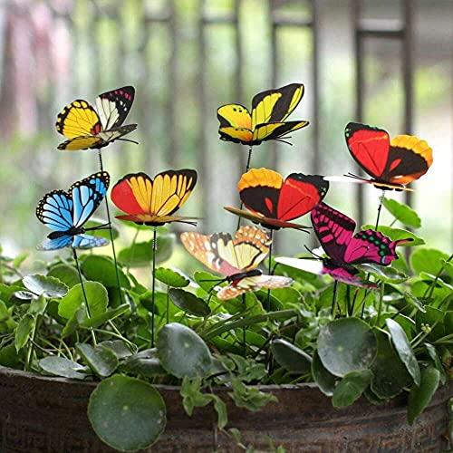 zhaita 25Pcs Butterfly Stakes Outdoor Yard Planter Flower Pot Bed Garden Decor Butterflies Christmas Decorations for Lawn Yard Path Walkway