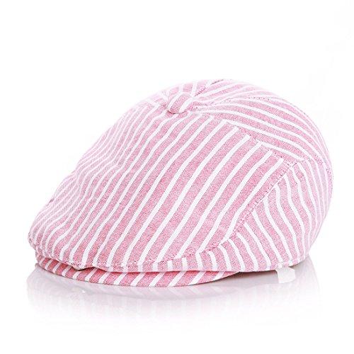 Kuyou Baby Kids Kapppe Hüte Kinder Baskenmütze Gatsby Schirmmütze, Einheitsgröße, Rot
