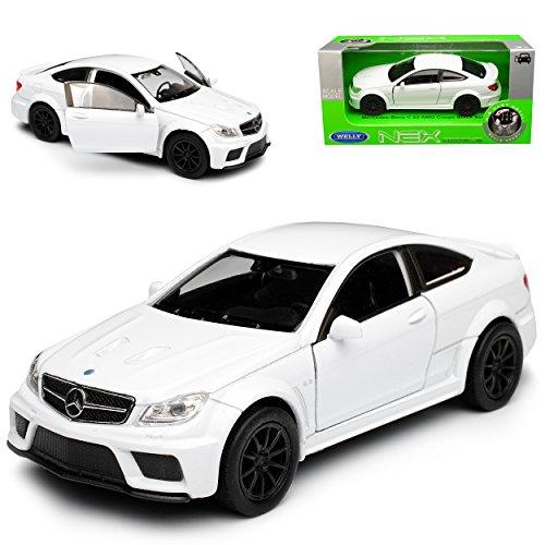 Welly Mercedes-Benz C-Klasse C63 AMG Coupe C204 Weiss 2011-2015 ca 1/43 1/36-1/46 Modell Auto mit individiuellem Wunschkennzeichen