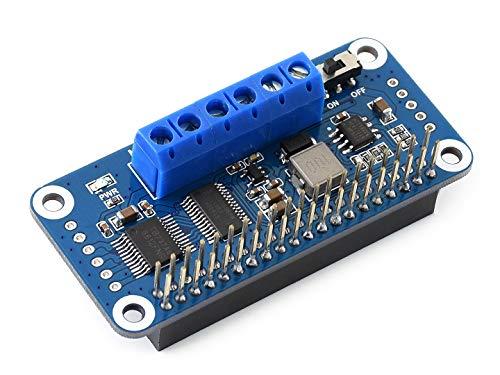 Waveshare Motor Driver HAT for Raspberry Pi Zero/Zero W/Zero WH/2B/3B/3B+ I2C Interface Drive Two DC Motors DIY Mobile Robots