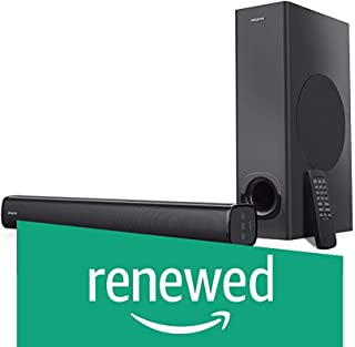 (Renewed) Creative Stage 2.1 Channel 160W Under-Monitor Soundbar with Subwoofer for TV Computers, and Ultra Wide Monitors Bluetooth/Optical Input/TV ARC/AUX-in, Remote Control and Wall Mounting Kit (Black)