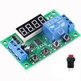 Mini DC 5V 12V Programmable Timer Relay Delay Module 24 Programs Infinite Cycle on/off Switch 0.01Sec to 999Min Adjustable (DC 12V Version)