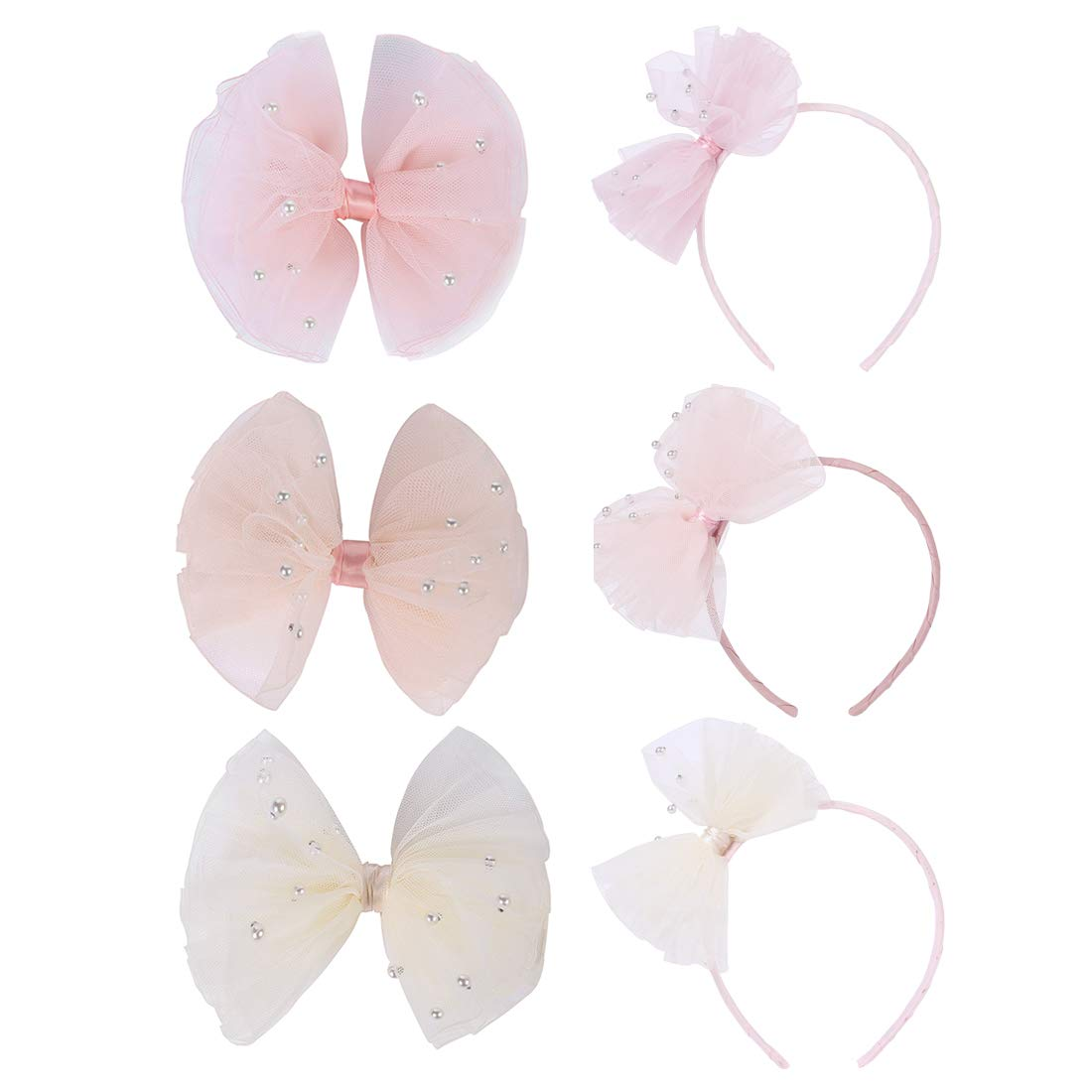 6pcs Girl baby bows hairpin hairband Free shipping / New Manufacturer direct delivery party with Bows Hair Pearls