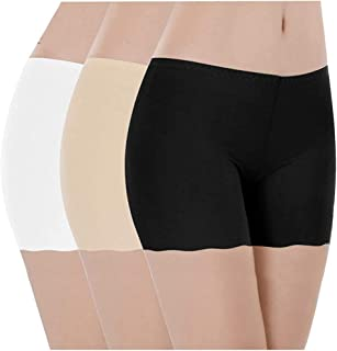 GLAMORAS Women's/Girl's Invisible Seamless Comfortable  Boyshort Panties/Under Skirt Shorts/Cycling Shorts/Safety Shorts.