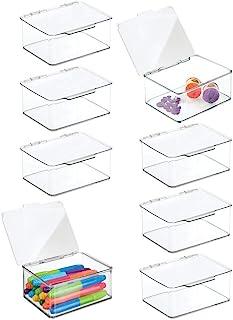 mDesign boîte de Rangement pour Articles de Bricolage et de Couture (Lot de 8) – boîte en Plastique à Couvercle – casier d...