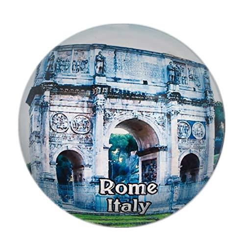 Weekino Souvenir Arco de Constantino Roma Roma Italia Italia Imán de Nevera Cristal de Cristal 3D Ciudad Turística Recuerdo de Viaje Colección Regalo Fuerte Refrigerador Etiqueta