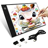 Tablette Lumineuse, Elfeland A4 4.2mm Ultra-mince Portable LED Dessin avec Scale Board...