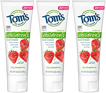3-Pack Tom's of Maine Anticavity Fluoride Strawberry Kids Toothpaste