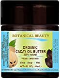 CACAY OIL BUTTER Virgin Unrefined WILD GROW Anti Aging Anti Wrinkle, nutrient rich in natural Retinol Vitamin A, E for Skin, Face, Hair, Lip, Nail Care. 4 Fl.oz - 120 ml by Botanical Beauty