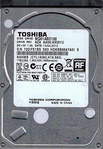 Toshiba MQ01ABD100 1TB AZA AA00/AX001U CHINA Laptop Hard Drive