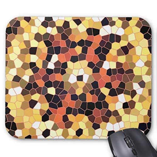 Mousepad Mousemat Helles Licht zu dunklen Orangen Fliesen Design Maus Matte