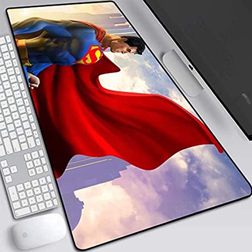 ZDVHM Superman Gaming Mouse Pad Oversized Extended Keyboard Mouse Mat Game Mousepad Cafe Mat for Office Home Non-Slip PC Desktop Table Mice Pads (Color : V, Size : 7003003mm)