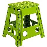 Acan Taburete Plegable PVC Infantil Multiuso MAX 150 kg (Verde, 29 x 22 x 39 cm)