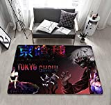 Alfombra de Dibujos Animados de Tokyo Ghoul, Alfombra Antideslizante, Felpudo de Dormitorio-a_40X60CM