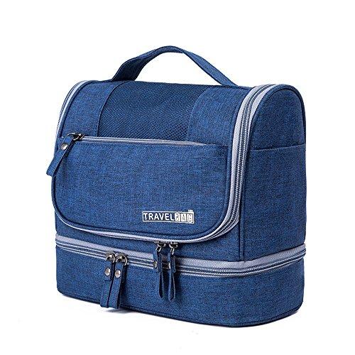 Trousses de Toilette Sac De Rangement Nylon Tissu - Portable Outdoor Voyage Cosmetic Sac Étanche Portable Wash Bag Zipper Design 6 Couleurs Taille 25x13x21cm (Couleur : D)