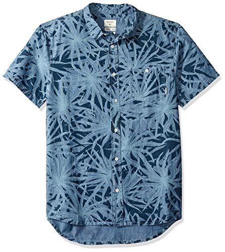 Quiksilver Men's Short Sleeve, Blue Night PANDANAS, XL