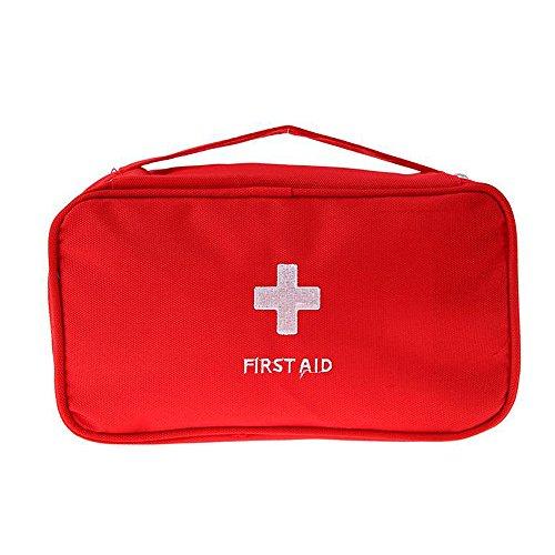 Ndier Al aire libre que acampa yendo de excursión bolsa de viaje de emergencia de emergencia botiquín de primeros auxilios bolsa de medicina de vacío, medicinal, almacenamiento de vitamina 1 pc (rojo)