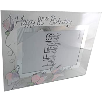 Oaktree Gifts 80th Silverplated Edge Box Frame 6 x 4