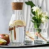 Krosno Wasserkaraffe mit Kork Deckel aus Glas | 1000 ML | Pure Kollektion | Perfekt für zu Hause, Restaurants und Partys | für Wasser und Säfte | Spülmaschinenfest und Mikrowellengeeignet - 3