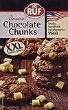 RUF Chocolate Chunks weiß Backfeste, weiße Schokolade Schokoladendrops weiß weiße Schokolade zum Backen, 12er Pack (12 x 100 g)