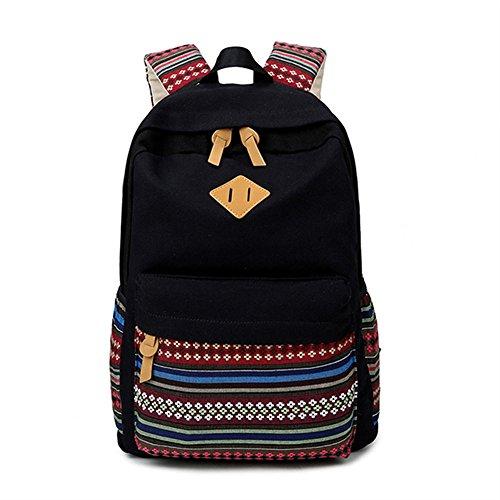 Modèle géométrique Casual toile portable sac scolaire sac à dos léger Backpacksfor Teen jeunes filles