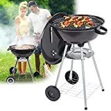 HIMAPETTR Portable <span class='highlight'>Charcoal</span> Grill, Original Kettle, Smoker Heat Control, 2 Grids 2 Wheels Storage Round Grill, with Lid, 4 Legs, for Outdoor 22-inch BBQ Grill