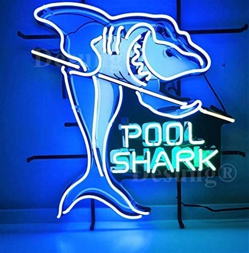 Some 2021new shipping free shipping reservation Amymami Beer Bar 24inx20in Pool Table Neon Sign Billiards Shark