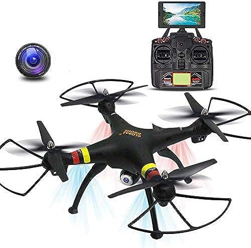 HUAXING Drohne mit Kamera, WiFi FPV Quadcopter mit 2MP 720P Weißinkelkamera Live-Video-Mobile-APP steuern H nstand-Hold-Modus Selfie-Tasche RC-Hubschrauber