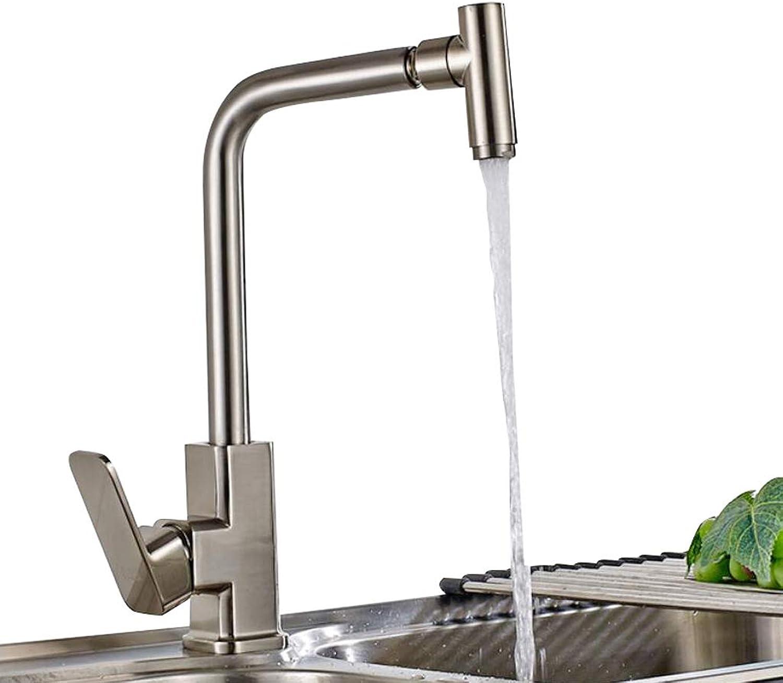 BHJqsy Küchenarmaturen Küchenarmatur, hei und kalt Waschbecken Wasserhahn Waschbecken Edelstahl Drehhahn aus Edelstahl