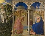 Anunciación para Fra Angelico Retrato Pintura al óleo sobre Lienzo Carteles e Impresiones Arte Cuadro de Pared para Sala de Estar Sin Marco 30x40cm