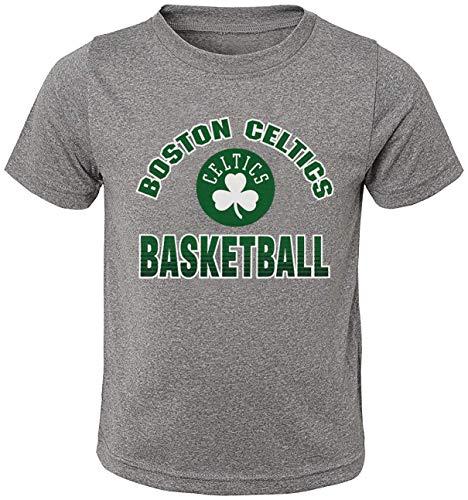 Outerstuff NBA Toddler Gray Primary Logo Basketball Short Sleeve T-Shirt (Boston Celtics Gray, 2T)