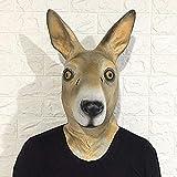 LinkLvoe Maske, Tiermaskenhaube, Leistungsrequisiten, Kopfbedeckung aus Latex