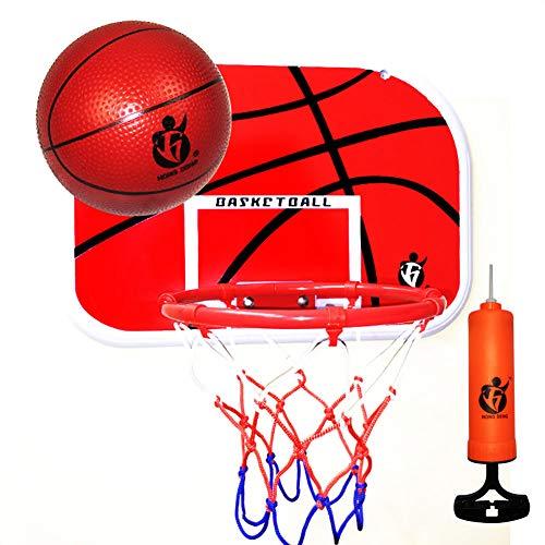 Yajun Kinder hängen Basketballkorb für Tür Mini Indoor Familie Tragbare Backboard Office Desktop Spielzeug Spielset für Kinder Adult Sport Red,M