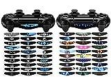 eXtremeRate 60 Piezas/Kit Adhesivo para PS4 Mando de la Barra luz Vinilo Pegatinas Calcoma...