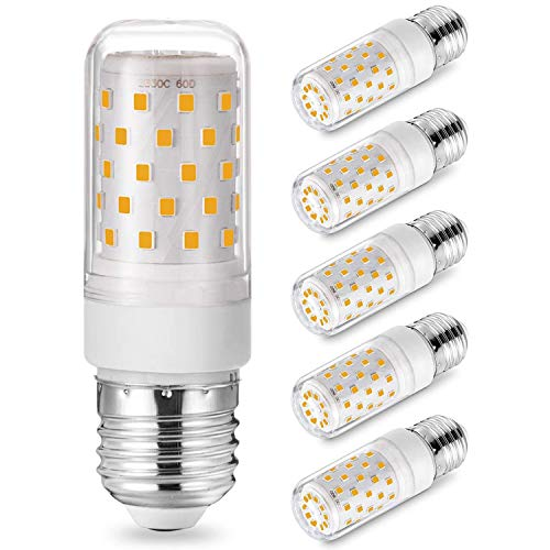 E27 LED Bombillas Maíz Regulable 3000K Blanco Cálido, 7W Equivalente 50W 60W 70W Halógena, 700LM E27 Maíz Bombillas, CA 220-240V, Sin Parpadeo E27 Lámparas, Paquete de 5, Eco.Luma