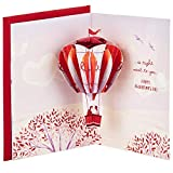 Hallmark Paper Wonder Valentines Day Pop Up Card for Significant Other (Hot Air Balloon Valentine)