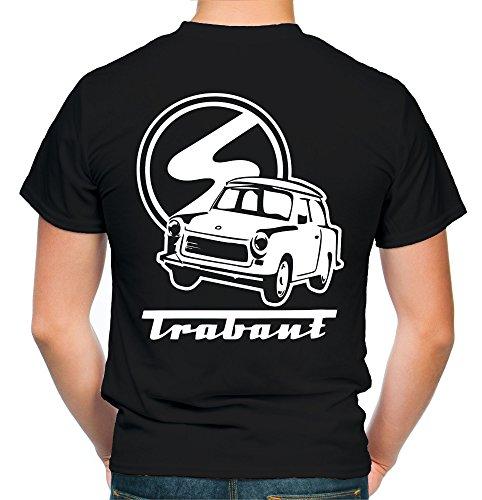 Trabant Männer und Herren T-Shirt | DDR Osten Simson Wartburg Trabi Geschenk | M2 FB (3XL, Schwarz)
